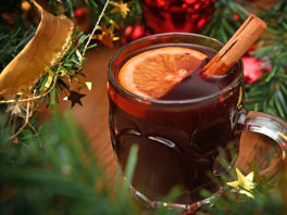 Mulled wine at P.Js for Christmas in July