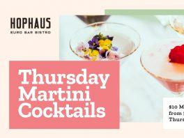 Southgate Melbourne Restaurant Dining Bars Cocktails Hophaus Martini Thursday